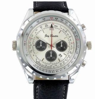 Herren Armbanduhr Xxl Chrono Look Lederarmband Datumsanzeige Lederuhr Uhr 1611 Bild