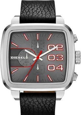 Diesel Schwarz Lederband Herren Neue Uhr Dz4304