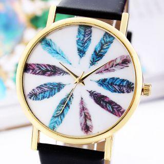 Mode Herrenuhr Feder - Art - Quarz - Uhr - Heiße - Armbanduhr Bild