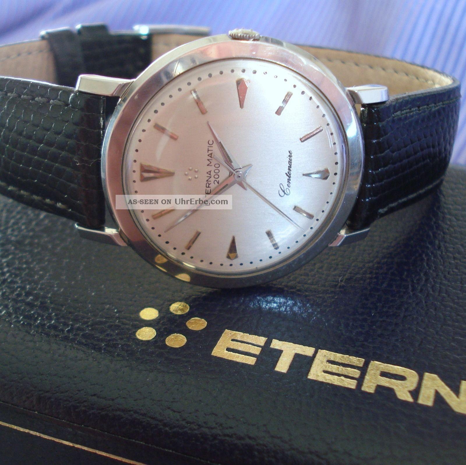 Klassiker Hau Eterna Eternamatic 2000 ' Centenaire ' Automatik Herren Armbanduhr Armbanduhren Bild