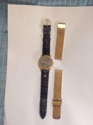 Maurice Lacroix Herren Uhr 34mm Stahl/gold Quartz Rar Day Date Bild