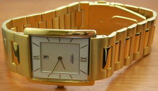 Pallas 1250.  45.  91 Herrenuhr Vergoldet Metallband Uhr Bild
