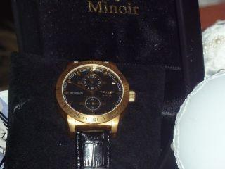 Herren Automatik Armbanduhr Minoir - Limoges - 70 Mattgold/schwarz Bild