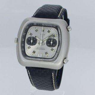 Elgin Vintage Chronograph Chronomatic Edelstahl Cal.  Breitling 12 Uhr Bild