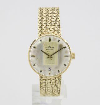 Bergana Herrenuhr Mit Automatic - Werk Vintage Uhr In 585/000 Gelb - Gold Bild