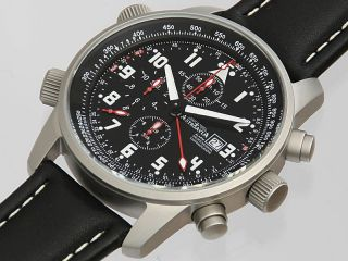 Tc73l,  43 Mm,  Astroavia,  Alarm Chronograph,  Flieger Uhr,  Lederband,  Os80 Werk Bild