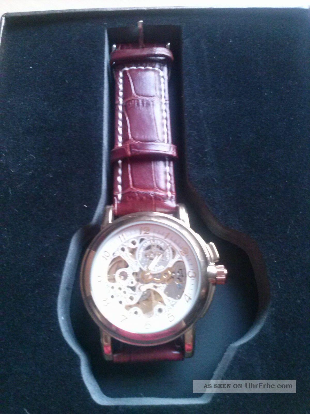 Herrenuhr Echtleder Armbanduhren Bild