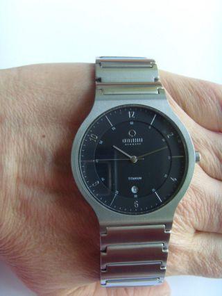 Obaku Harmony Armbanduhr Titan V133gtbst Dänisches Design Mit Datum Bild