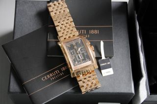 Cerruti Herren Armbanduhr Genova Chronograph Superedel Ungetragen In Ovp Bild