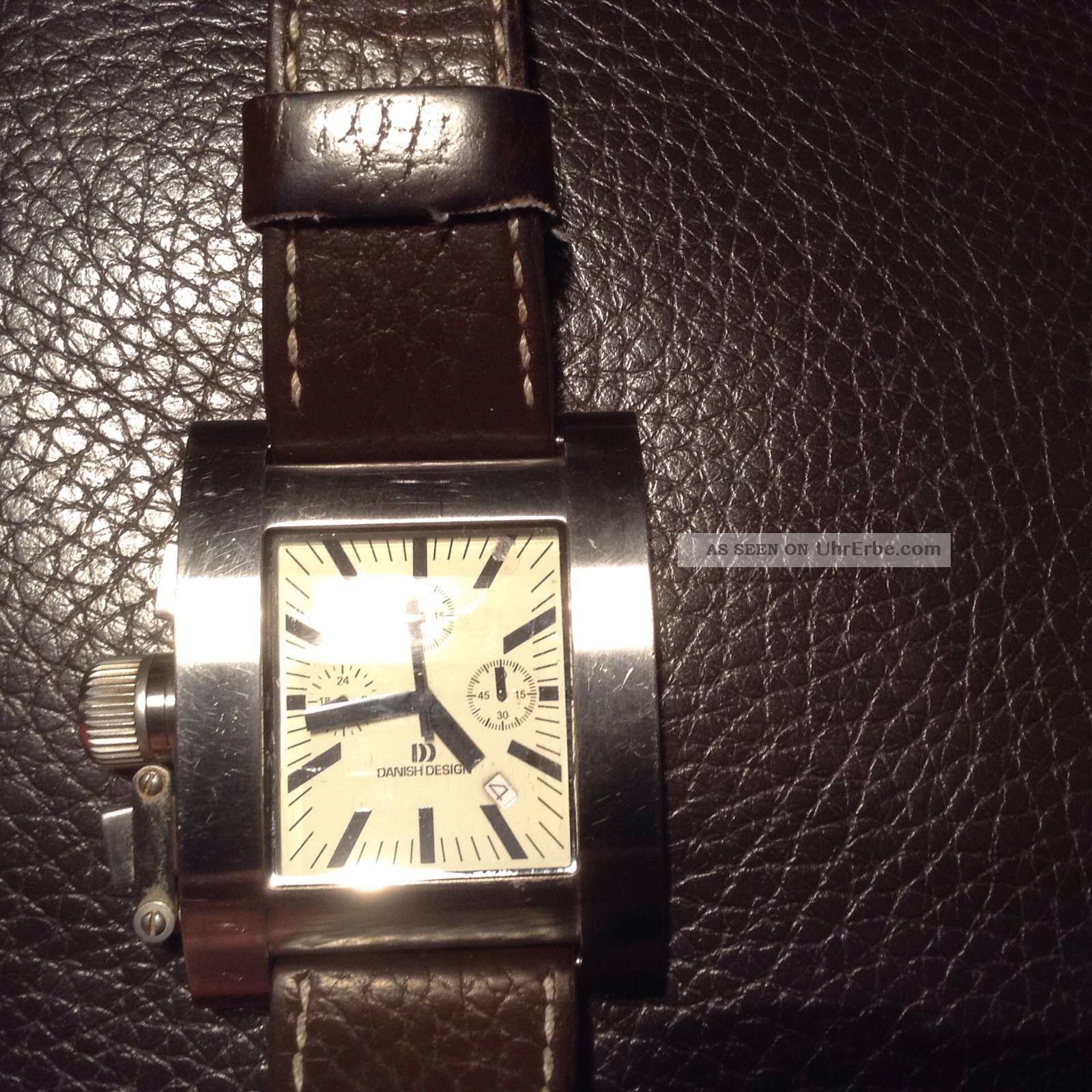 Danish Design Uhr Herren Braun Lederarmband Armbanduhren Bild