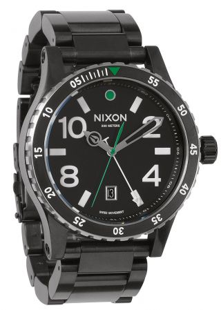 Nixon Diplomat Black Silver Herren Uhr A277 1421 Bild