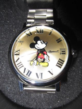 Ingersoll Disney Mickey Mouse Uhr Armbanduhr Micky Maus Edelstahl Wie Bild