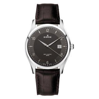 Edox Herren Armbanduhr Wrc Classic 70170 3 Gin Herrenuhr Uhr Leder Bild