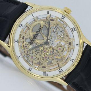 Audemars Piguet Squelette Automatique Ø35mmskelett Gold Uhr Automatik Superflach Bild