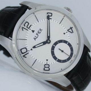 Alfex Eilinger Design Handaufzug Unitas 6498 Edelstahl Uhr Bild