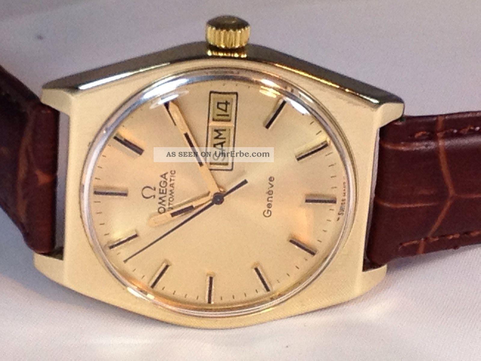 Automatik Herren Omega Armband Geneve Uhr Swiss Uhrwerk Made 54RjAL