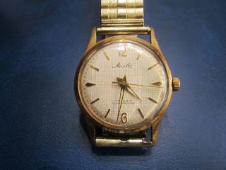 Mauthe 17 Rubis Herren Armband Uhr Vintage Mechanical Herren Watch.  Schön. Bild
