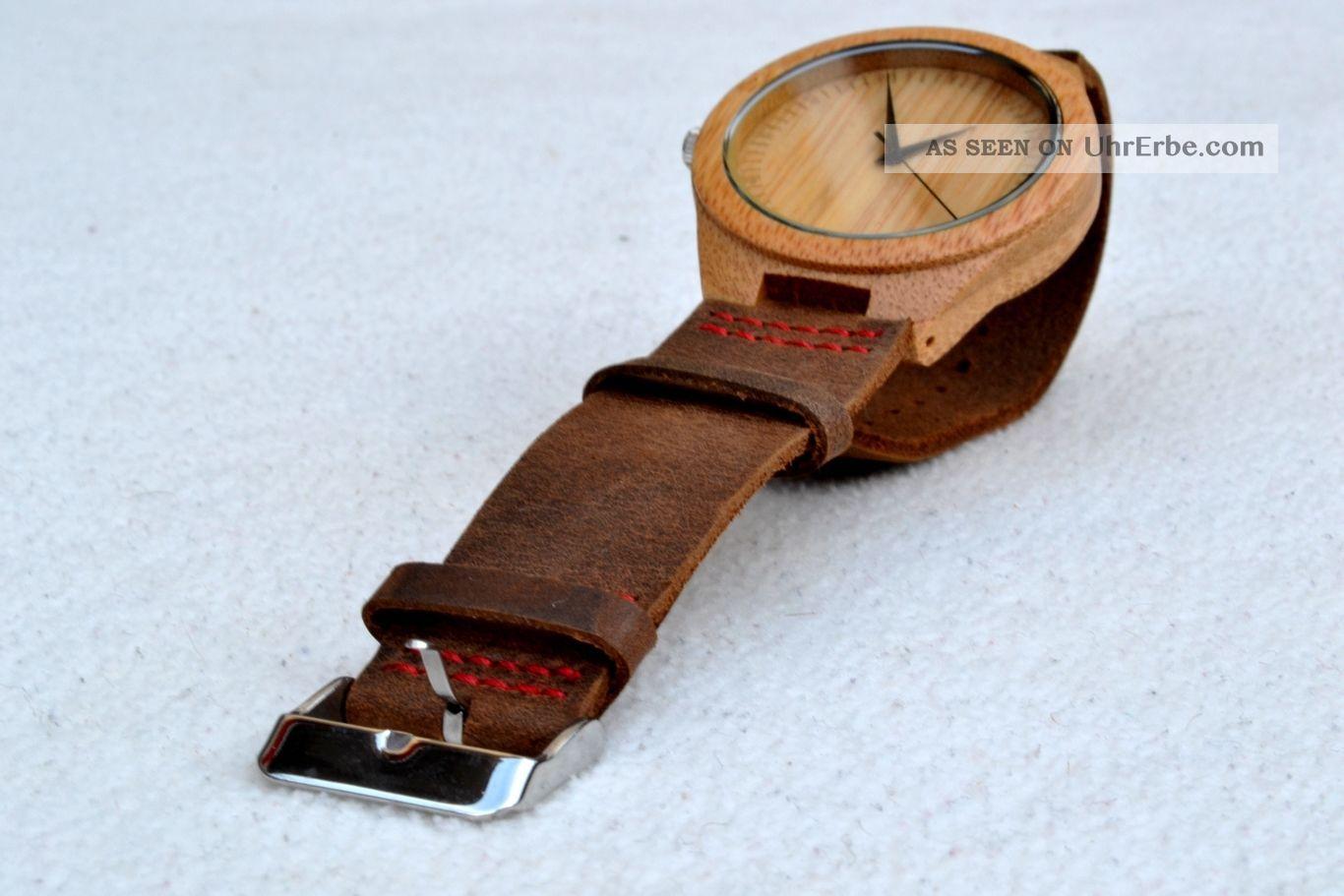 Armbanduhr Aus Holz Ukraine ~ Herren Armbanduhr Aus Bambus Holz Mit Echtem Lederband Handgemacht