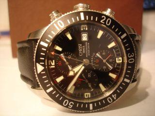 Christ Automatik - Chronograph,  Valjoux 7750,  Saphirglas,  Zertifikat,  Box Bild