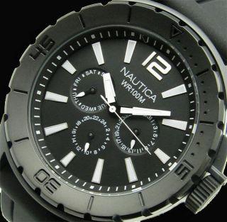 Nagelneu Nautica N17594g Nsr 05 Pvd All Black Multifunktion Armbanduhr 100m Top Bild
