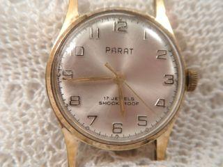 Uhr Parat Herrenarmbanduhr 17 Jewels Metall Vergoldet Edelstahl Sekundenanzeige Bild
