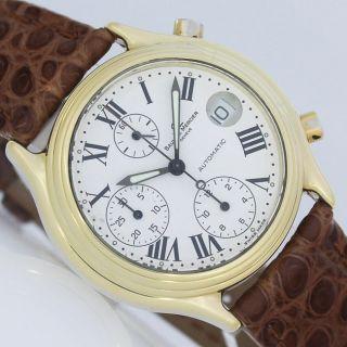 Baume & Mercier Chronographe Baumatic Chronograph Gold Ø 37mm Automatik Uhr Bild