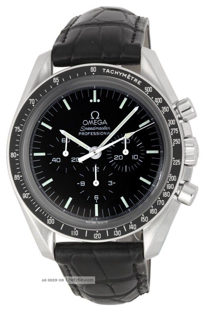 Omega 3870. 50. 31 Speedmaster Moonwatch Professionelle Herren Chronograph - Armbanduhren Bild