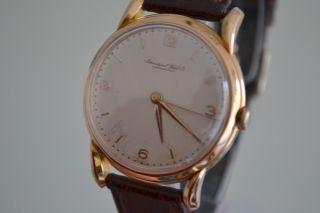 Iwc Schaffhausen Rosegold 18k/750 Vintage Luxus Herrenuhr 1950 Bild