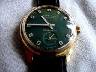 Herren Armbanduhr Kienzle Markant - Handaufzug - Grün,  Sehr Selten Bild