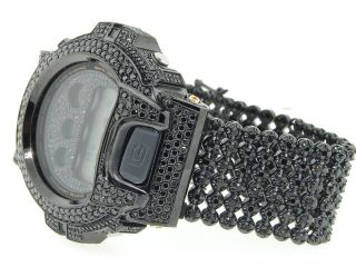 G - Shock / G Shock Voll Schwarz 8ct Simulierte Diamant Bezel & Band Joe Rodeo Bild