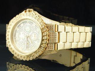 Brand Herren Bling 1 Reihe Diamant - Uhr Joe Rodeo Jojo Illusion Band Bild