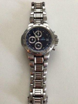 Adidas Chronograph 10 - 0018 Silber - Blau Bild