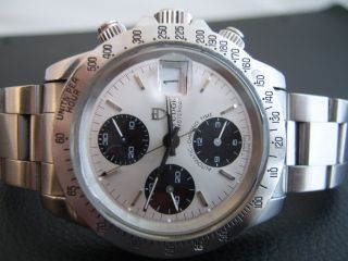 Tudor Automatik Chronograph - Ref: 79180 - Bigblock - Silver Dial - Plexiglas Bild