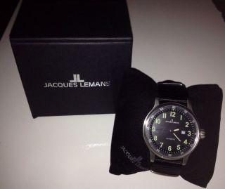 Jacques Lemans Herren - Armbanduhr Xl Sport Analog Automatik Nylon 1 - 1723c Top Bild