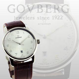 Eterna Edelstahl Soleure Automatische Herren Uhr 8310.  41 Silber Ziffernblatt Bild