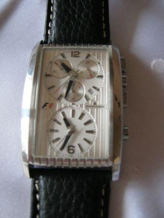 Herrenarmbanduhr - Jacques Lemans Dualtimer Chronograph Modell F1 Rarität Bild