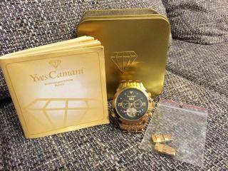 Yves Camani Navigator Armbanduhr Automatik Für Herren Gold G - 30803 - D Bild