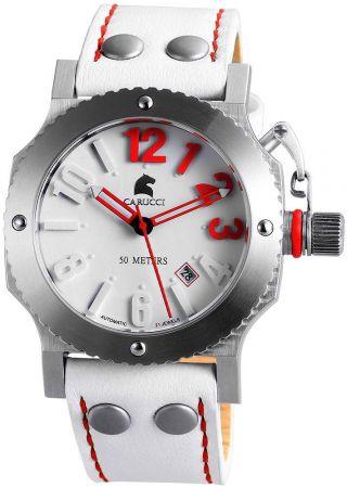 Automatikuhr Carucci Unisex Ca2210sl - Rd Uhr Lederarmband Potenza Ii Bild