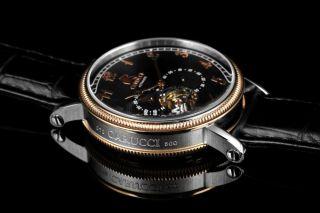 Carucci Automatik Herren Uhr Ca2201rg - Bk Syrakus Ii Leder Bild