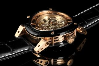 Carucci Automatik Herren Uhr Tavado Ii Schwarz Rotgolden Ca2207rg Bild