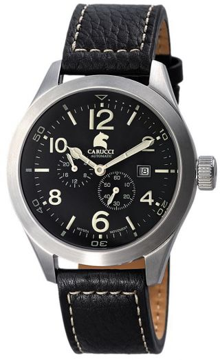 Carucci Automatik Herren Uhr Automatikuhr Schwarz Ca2202bk San Severo Bild