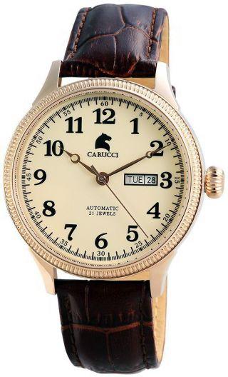 Carucci Automatik Herren Uhr Ca2209rg Automatikuhr Prato Bild