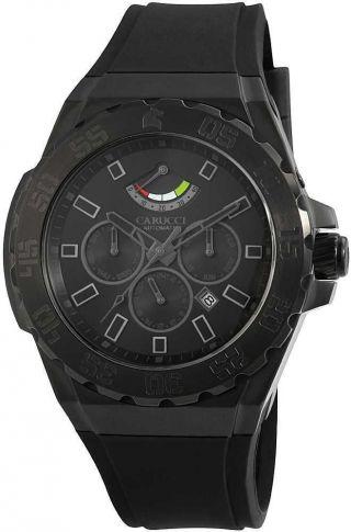 Carucci Uhr Automatikuhr Ca2204bk - Bk Herrenuhr Schwarz 5 Atm Bild