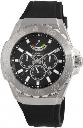 Carucci Uhr Automatikuhr Ca2204bk Herrenuhr Schwarz 5 Atm Bild
