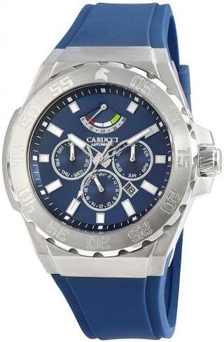 Carucci Uhr Automatikuhr Ca2204bl Herrenuhr Blau Silber 5 Atm Bild
