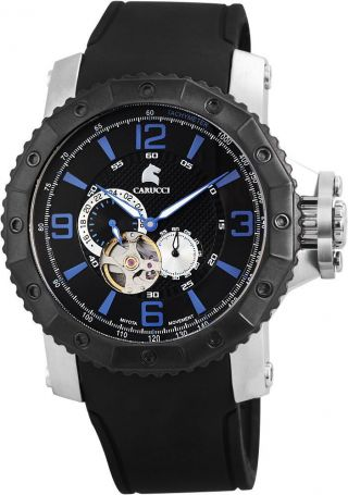 Automatikuhr Carucci Ca2198bk Herrenuhr Turin Schwarz Blau Uhr Bild