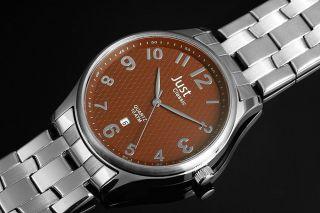 Just Herrenuhr 48 - S3665 - Br Edelstahl Uhr Braun Bild