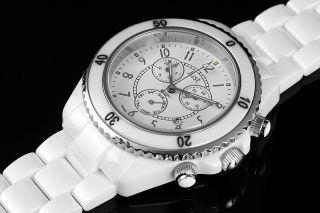Just Herrenuhr Keramik - Armband - Gehäuse 48 - S2458 - Wh Weiß Chrono Bild
