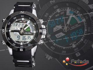Weide Led Digital Analog Herrenuhr Sportuhr Herren Quarz Armbanduhr Uhr Fashion Bild