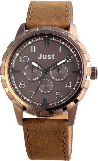 Just Chronograph Herrenuhr Lederarmband Braun 48 - S4997 - Br Armbanduhr Bild